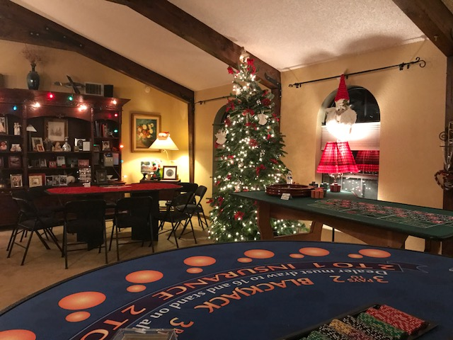 Casino themed Holiday Party