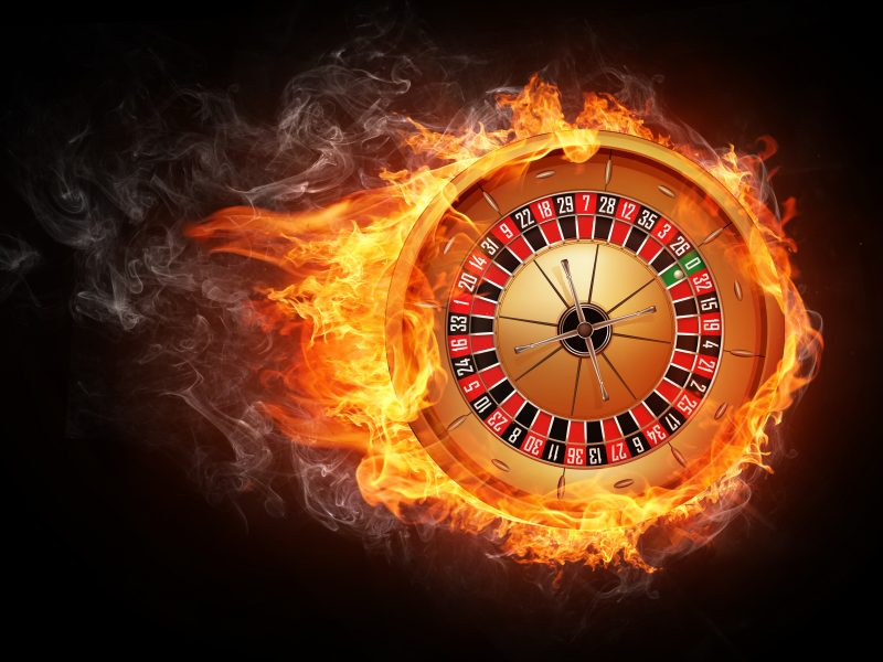 Casino Party Roulette on fire